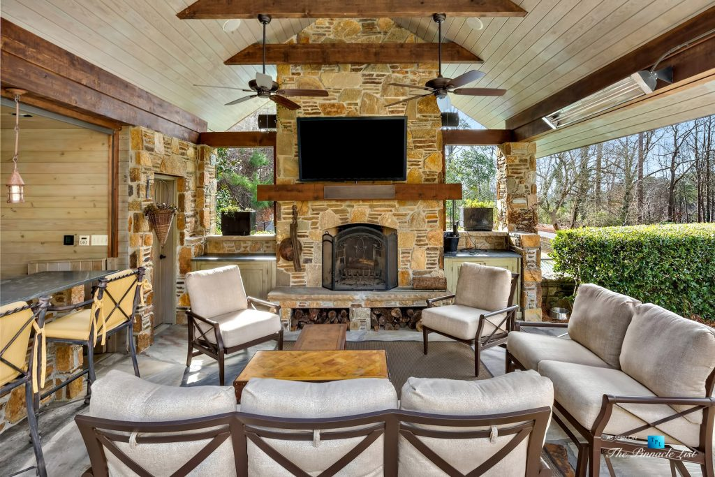 75 Finch Forest Trail, Atlanta, GA, USA - Covered Outdoor Deck - Luxury Real Estate - Sandy Springs Home
