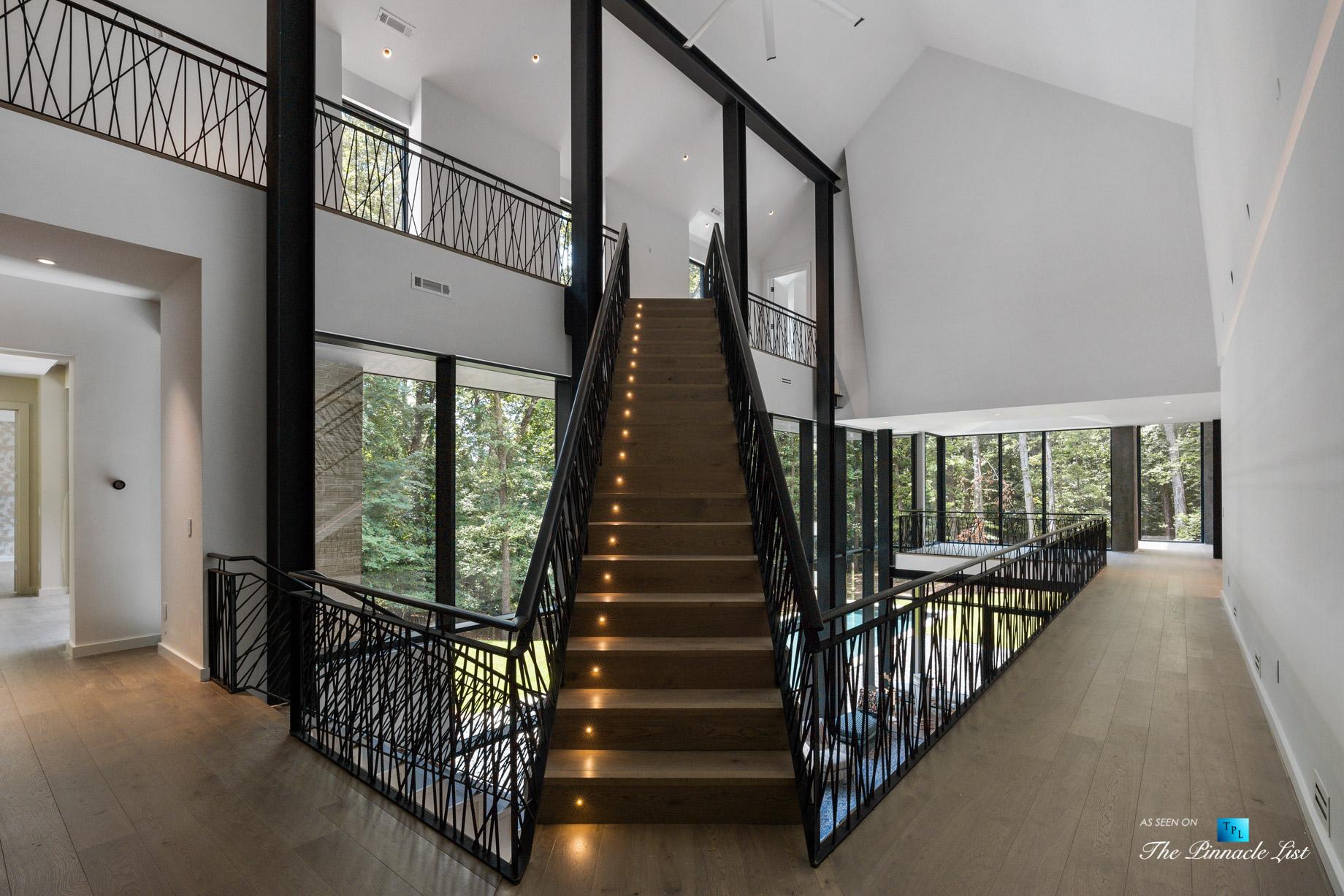 2716 Ridgewood Rd NW, Atlanta, GA, USA – Main Stairs – Luxury Real Estate – Modern Contemporary Buckhead Home