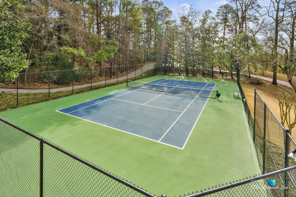 75 Finch Forest Trail, Atlanta, GA, USA - Outdoor Tennis Court - Luxury Real Estate - Sandy Springs Home