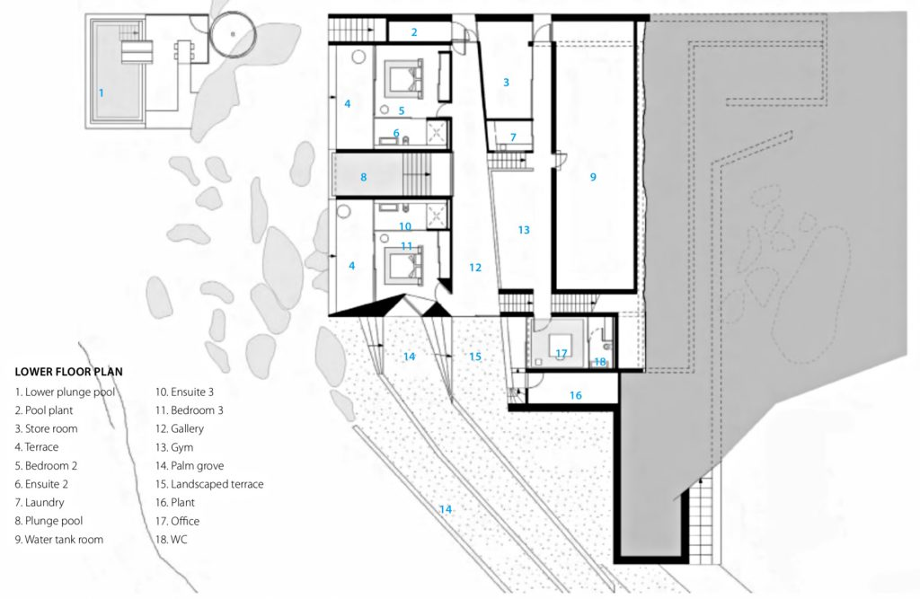 Lower Floor Plan - Solis Hamilton Island House - Whitsundays, Queensland, Australia