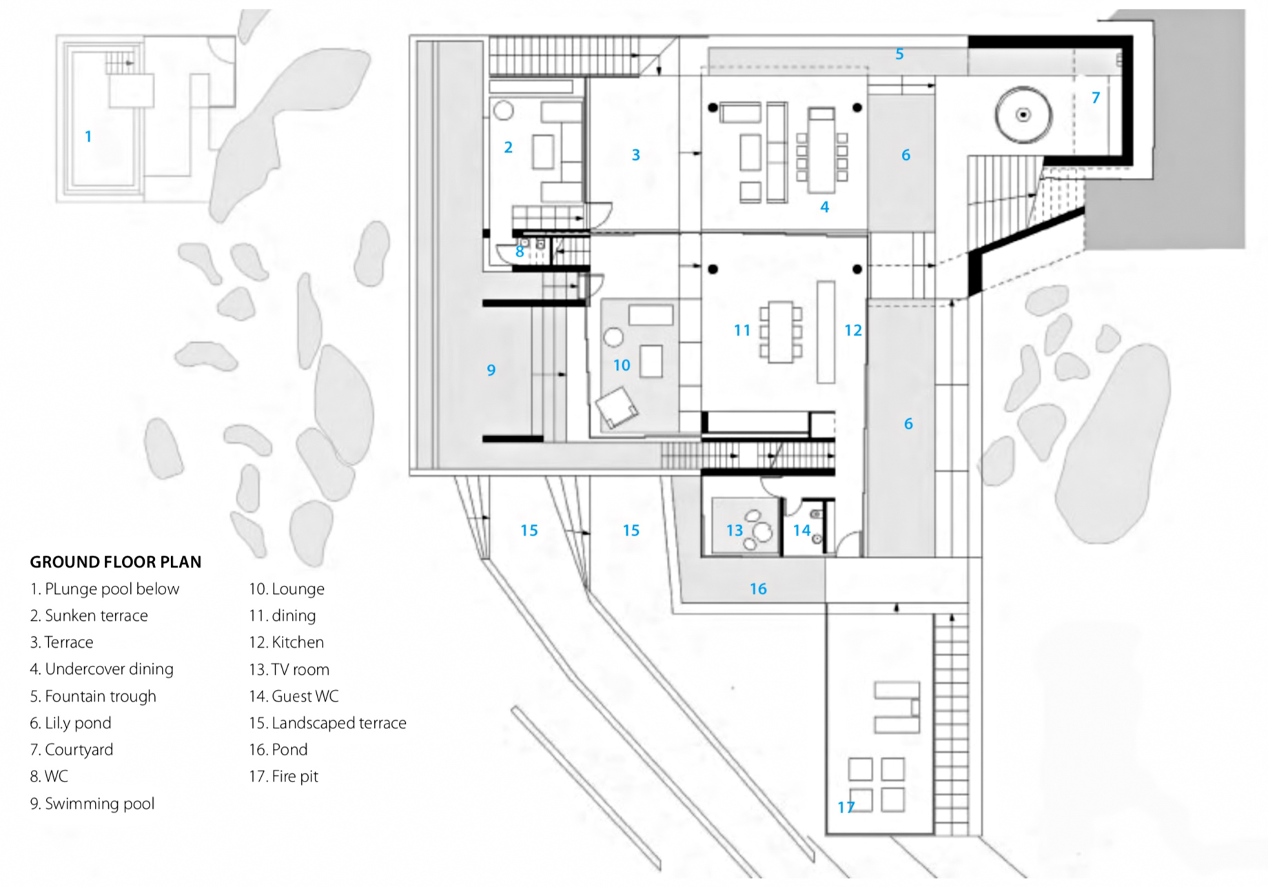 Ground Floor Plan - Solis Hamilton Island House - Whitsundays, Queensland, Australia