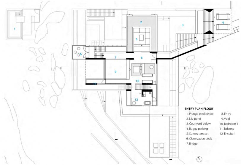 Entry Floor Plan - Solis Hamilton Island House - Whitsundays, Queensland, Australia