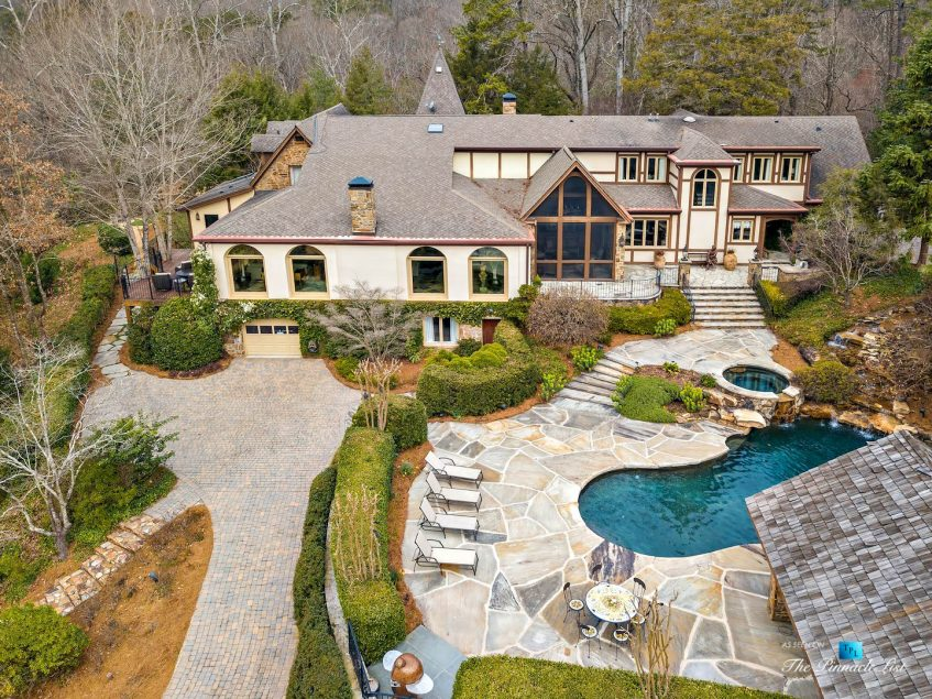 75 Finch Forest Trail, Atlanta, GA, USA - Drone Aerial Property View - Luxury Real Estate - Sandy Springs Home