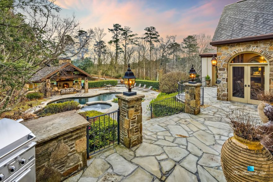 75 Finch Forest Trail, Atlanta, GA, USA - Backyard Pool View - Luxury Real Estate - Sandy Springs Home
