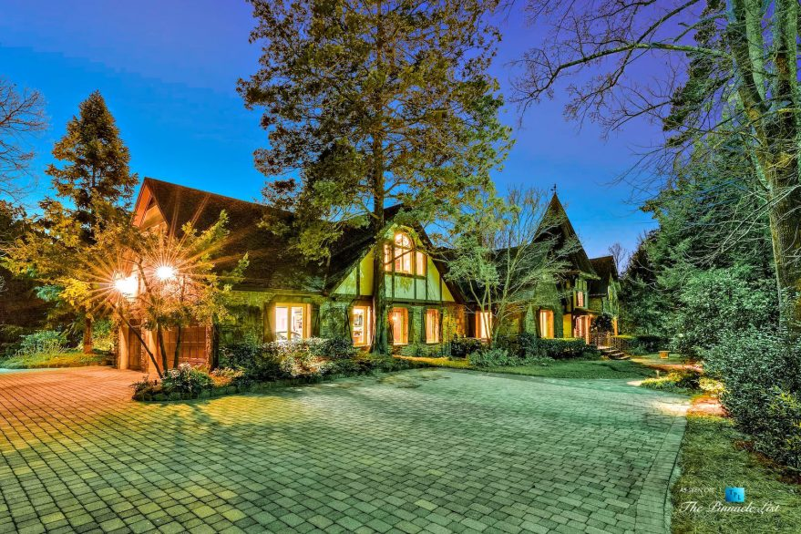 75 Finch Forest Trail, Atlanta, GA, USA - Night House View - Luxury Real Estate - Sandy Springs Home
