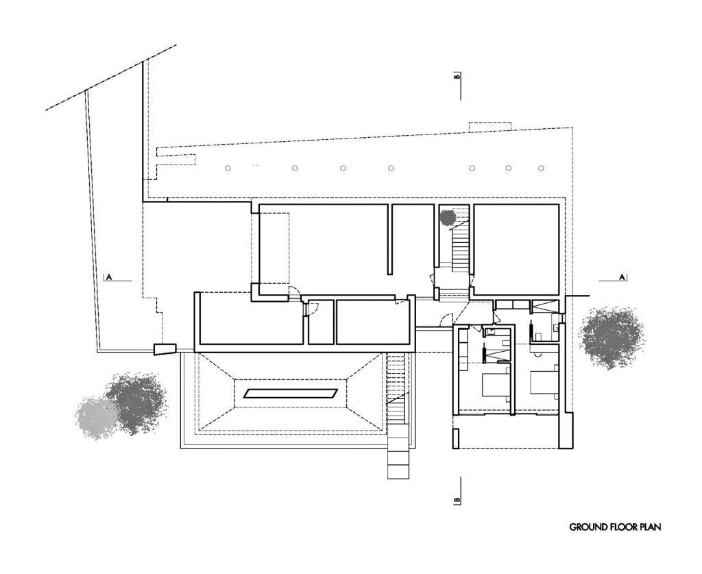 Ground Floor Plan - Casa Carrara Luxury Residence - Praia da Luz, Algarve, Portugal
