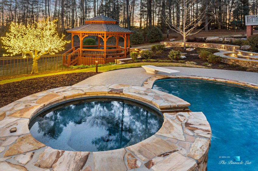 2219 Costley Mill Rd NE, Conyers, GA, USA - Backyard Pool and Hot Tub - Luxury Real Estate - Equestrian Country Home