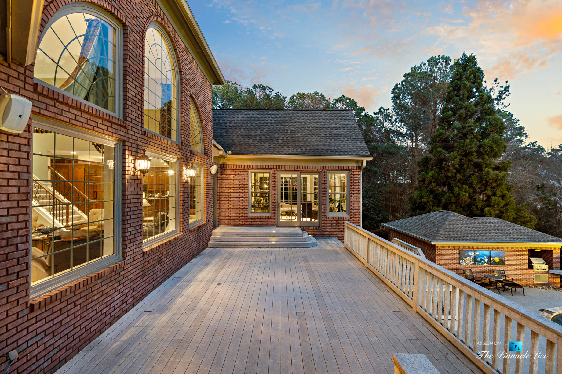 2219 Costley Mill Rd NE, Conyers, GA, USA – Rear Upper Deck – Luxury Real Estate – Equestrian Country Home