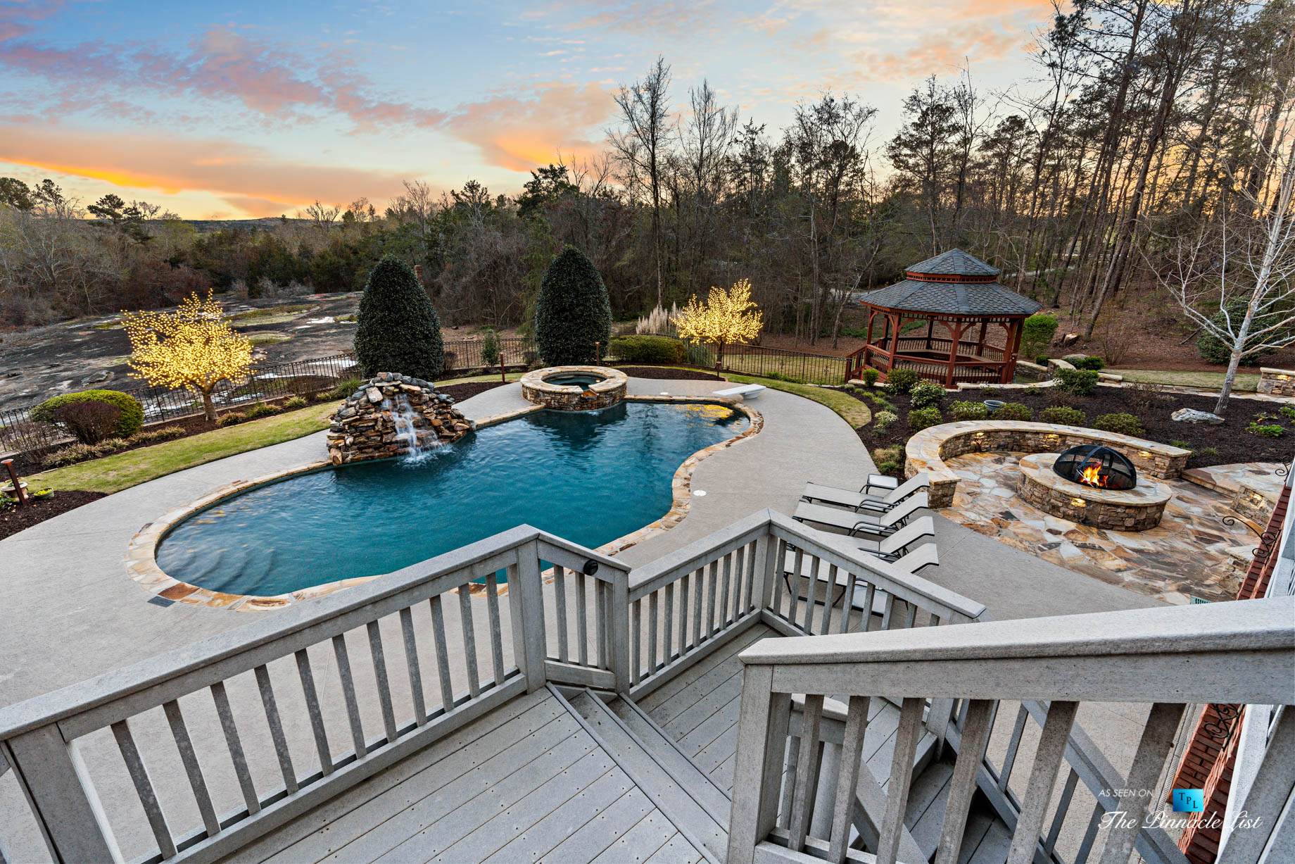 2219 Costley Mill Rd NE, Conyers, GA, USA - Rear Upper Deck Overlooking Pool - Luxury Real Estate - Equestrian Country Home