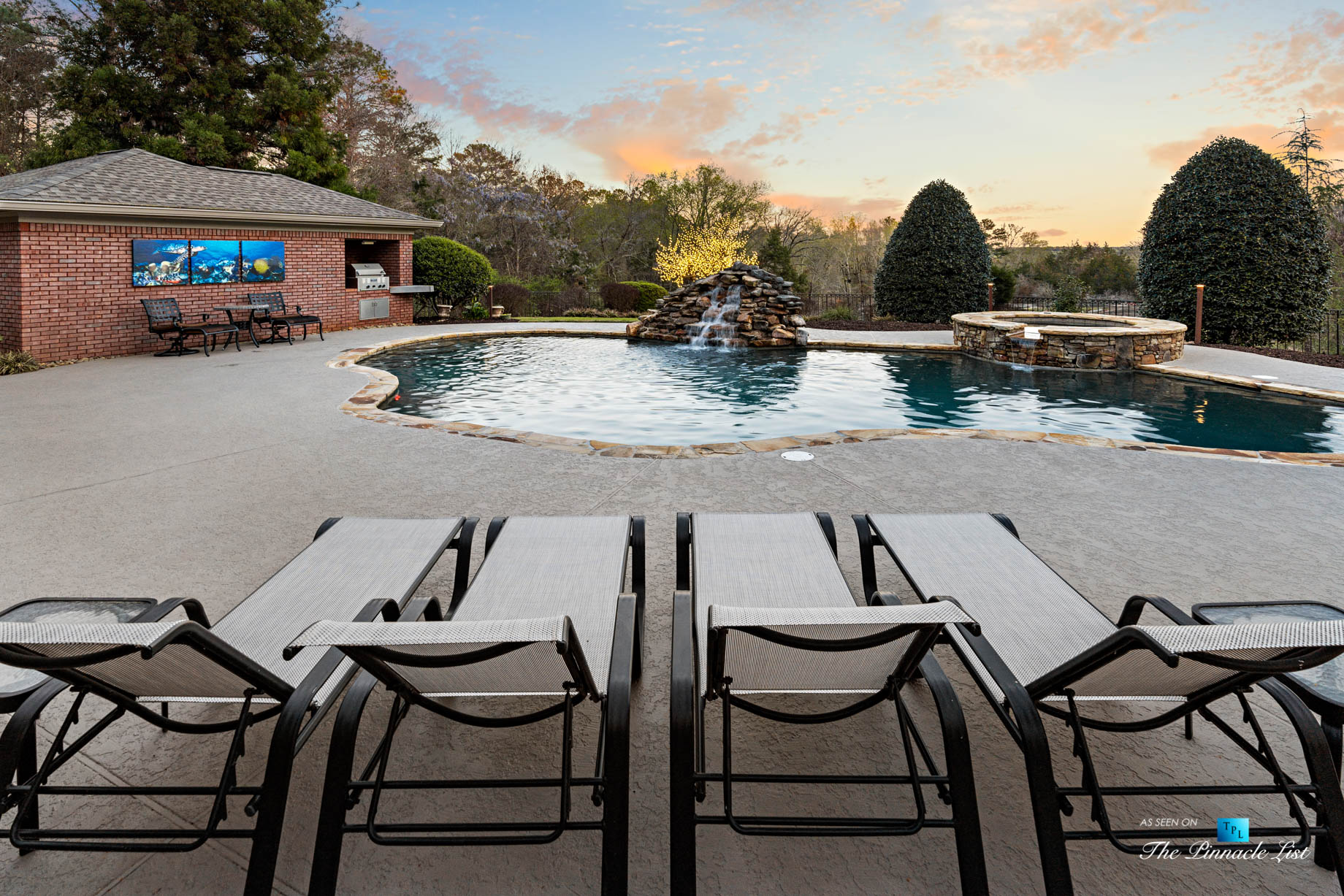 2219 Costley Mill Rd NE, Conyers, GA, USA - Lounge Chairs on Pool Deck - Luxury Real Estate - Equestrian Country Home