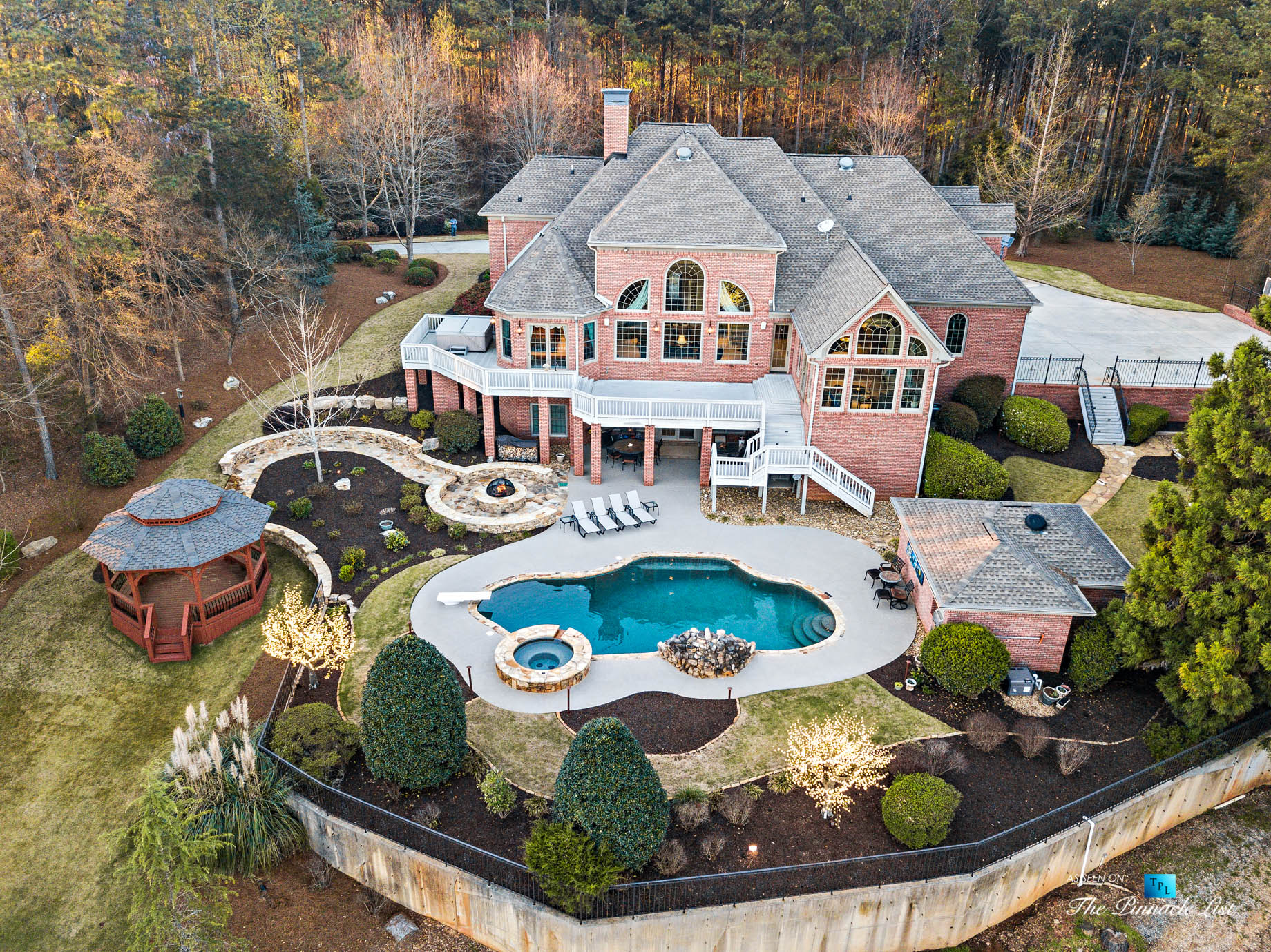 2219 Costley Mill Rd NE, Conyers, GA, USA - Drone Aerial Backyard Property View - Luxury Real Estate - Equestrian Country Home