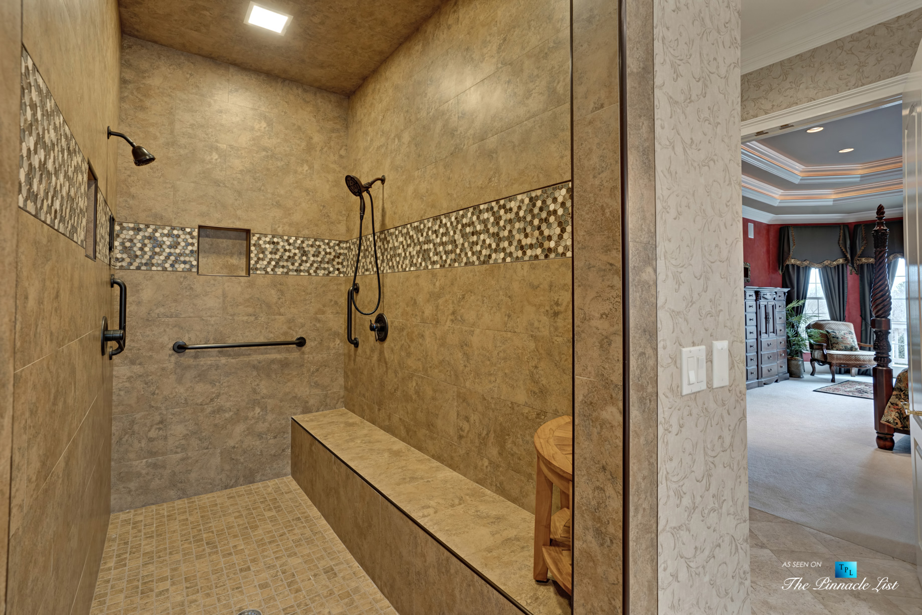 2219 Costley Mill Rd NE, Conyers, GA, USA – Master Bathroom Shower – Luxury Real Estate – Equestrian Country Home