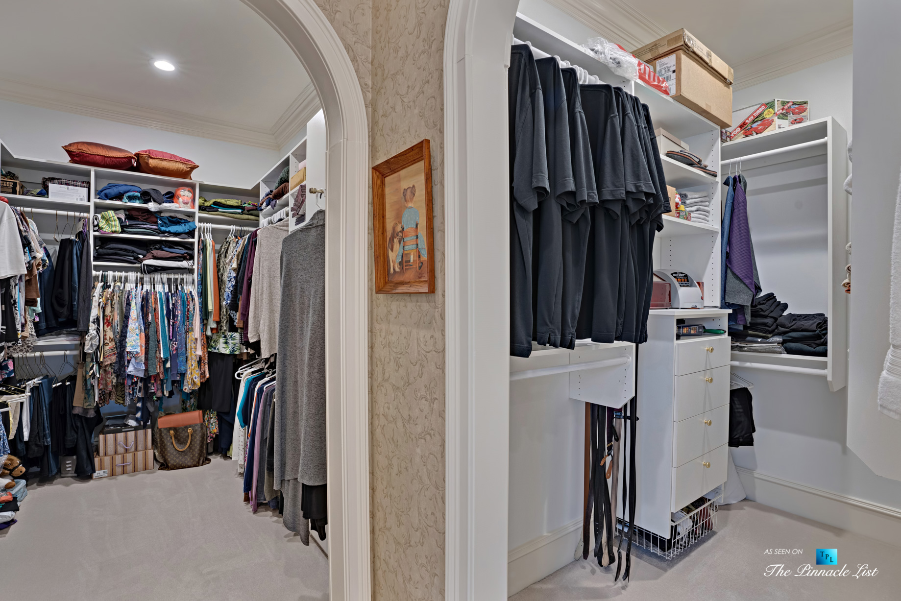 2219 Costley Mill Rd NE, Conyers, GA, USA - Master Bedroom Walk In Closets - Luxury Real Estate - Equestrian Country Home