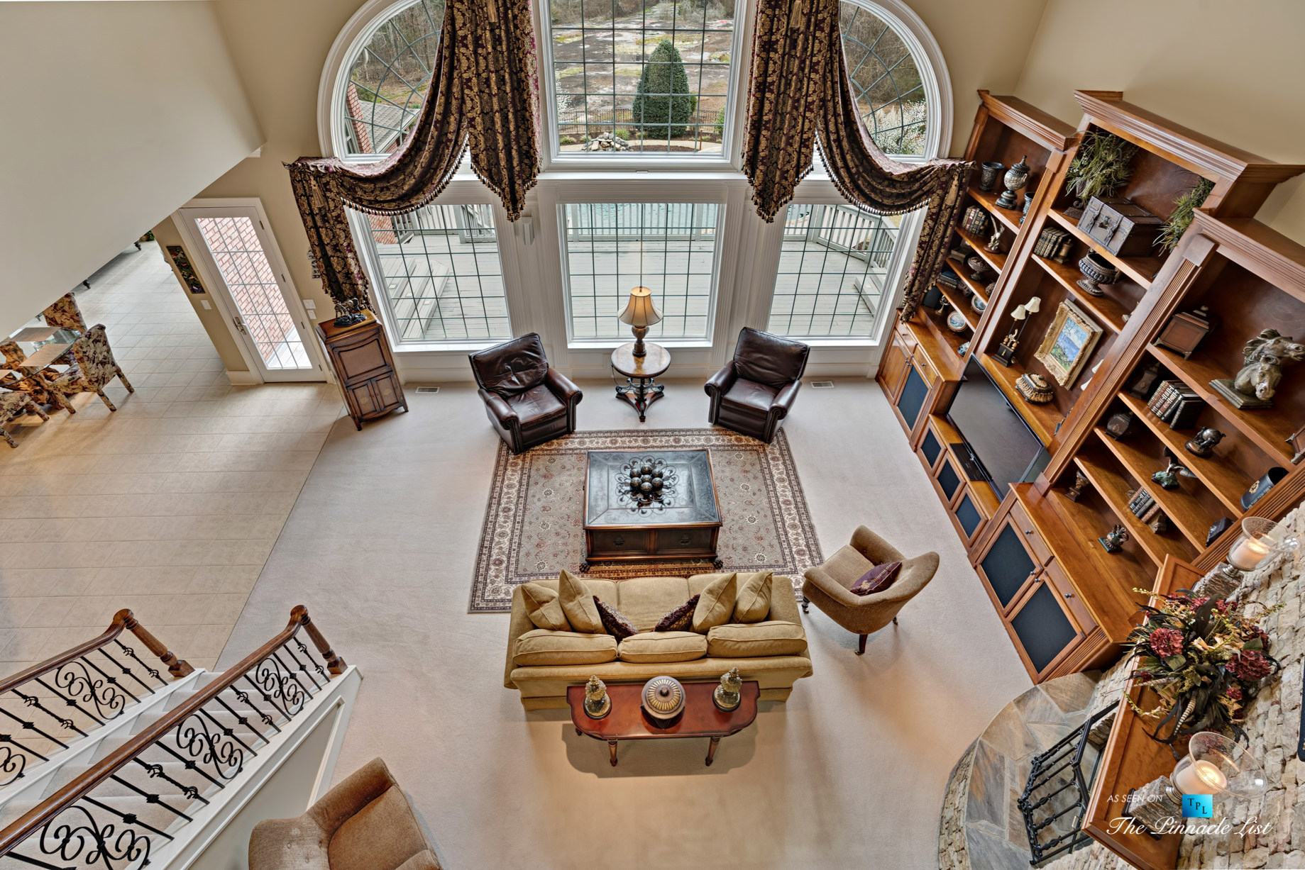 2219 Costley Mill Rd NE, Conyers, GA, USA – Living Room – Luxury Real Estate – Equestrian Country Home