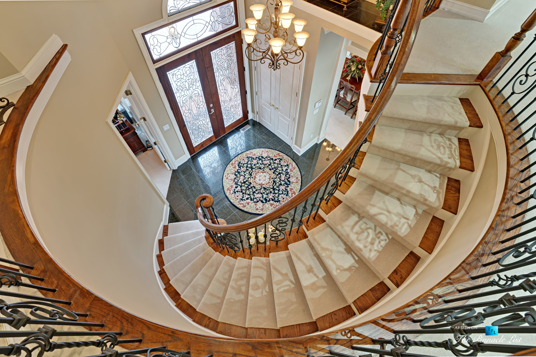 2219 Costley Mill Rd NE, Conyers, GA, USA - Circular Stairs - Luxury Real Estate - Equestrian Country Home