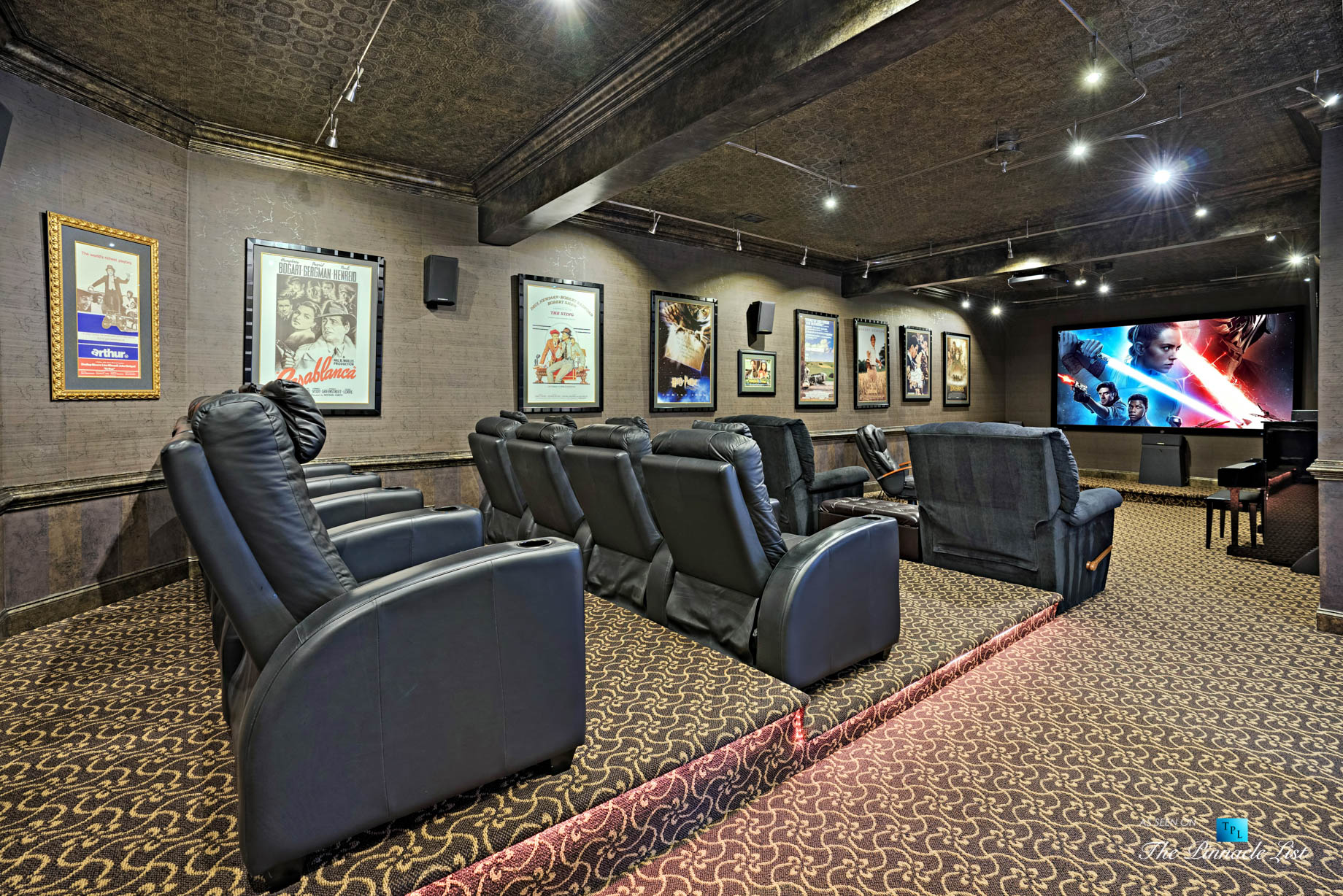 2219 Costley Mill Rd NE, Conyers, GA, USA – Theatre Room – Luxury Real Estate – Equestrian Country Home