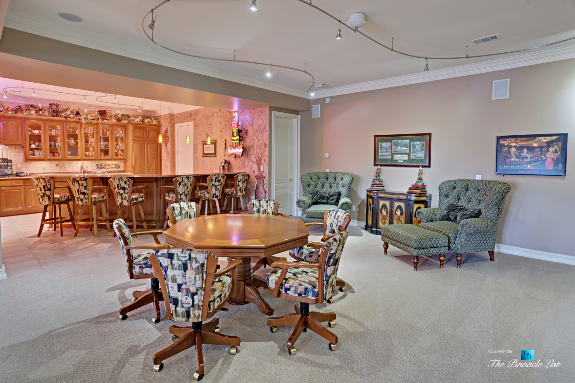 2219 Costley Mill Rd NE, Conyers, GA, USA – Recreation Room and Bar – Luxury Real Estate – Equestrian Country Home