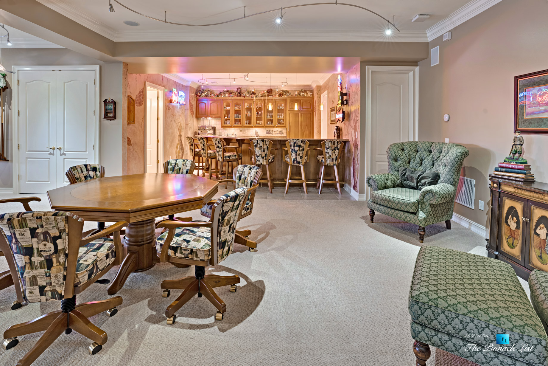 2219 Costley Mill Rd NE, Conyers, GA, USA - Recreation Room and Bar - Luxury Real Estate - Equestrian Country Home