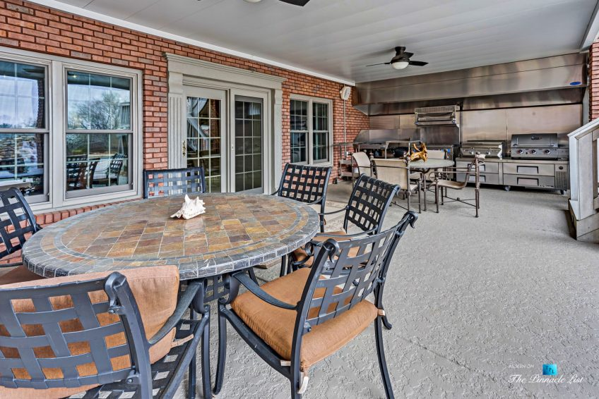 2219 Costley Mill Rd NE, Conyers, GA, USA - Covered Patio Outdoor Kitchen - Luxury Real Estate - Equestrian Country Home