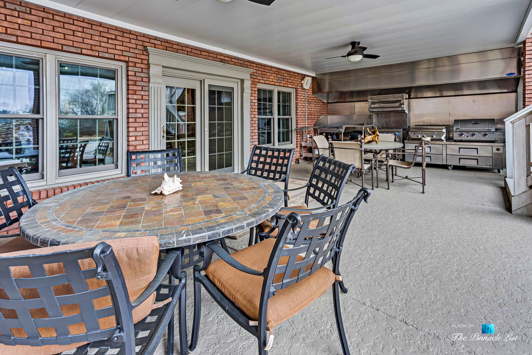 2219 Costley Mill Rd NE, Conyers, GA, USA – Covered Patio Outdoor Kitchen – Luxury Real Estate – Equestrian Country Home