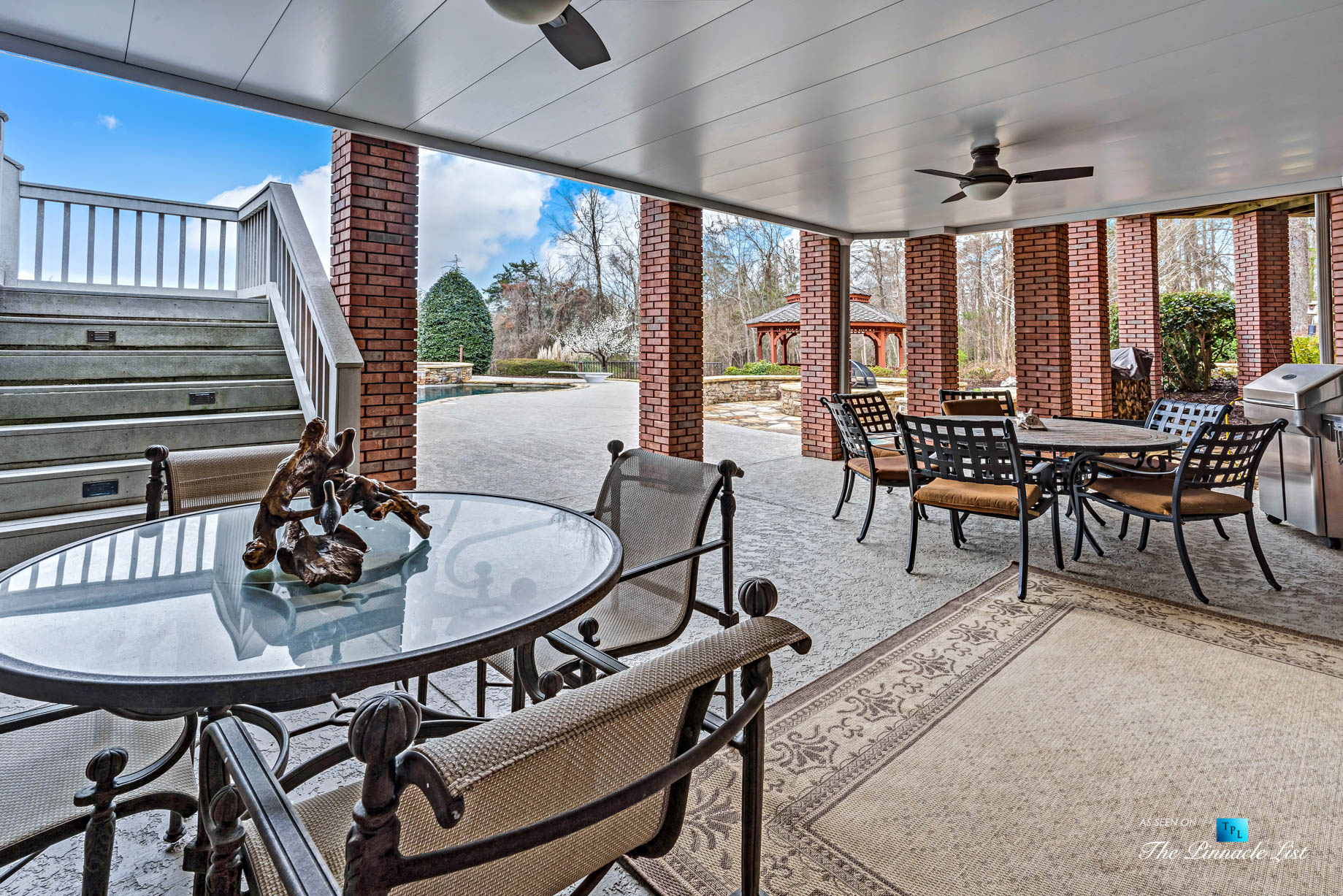2219 Costley Mill Rd NE, Conyers, GA, USA - Covered Outdoor Patio - Luxury Real Estate - Equestrian Country Home