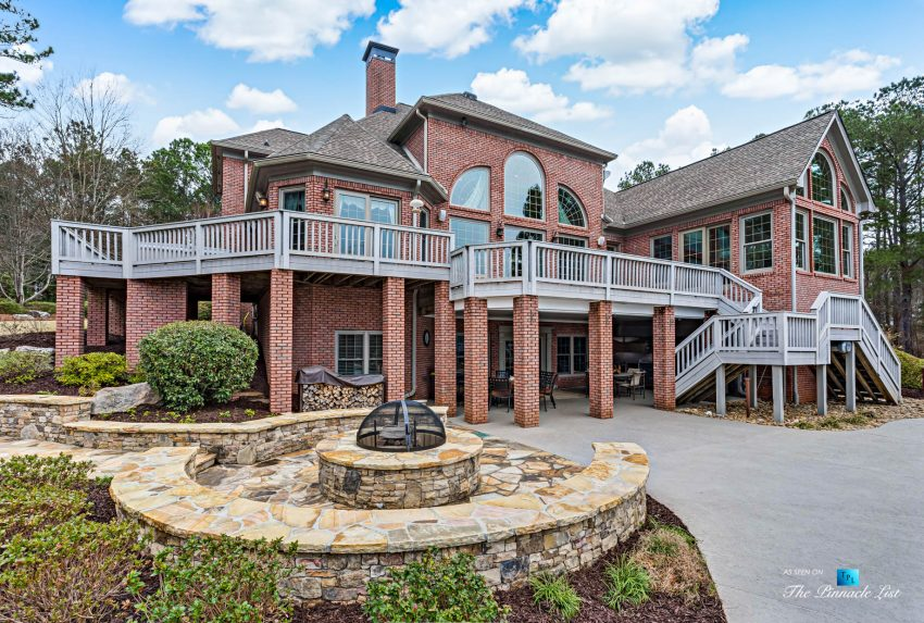 2219 Costley Mill Rd NE, Conyers, GA, USA - Backyard Fire Pit - Luxury Real Estate - Equestrian Country Home
