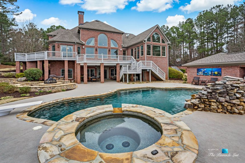 2219 Costley Mill Rd NE, Conyers, GA, USA - Backyard Hot Tub and Pool - Luxury Real Estate - Equestrian Country Home