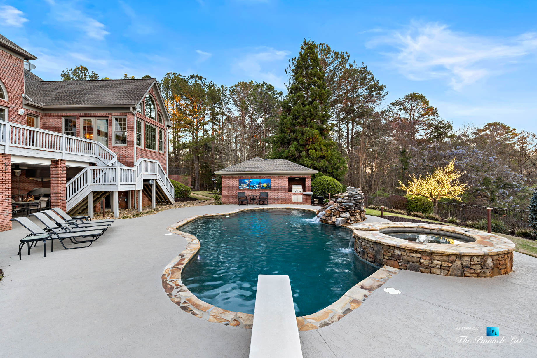 2219 Costley Mill Rd NE, Conyers, GA, USA – Backyard Pool Diving Board – Luxury Real Estate – Equestrian Country Home