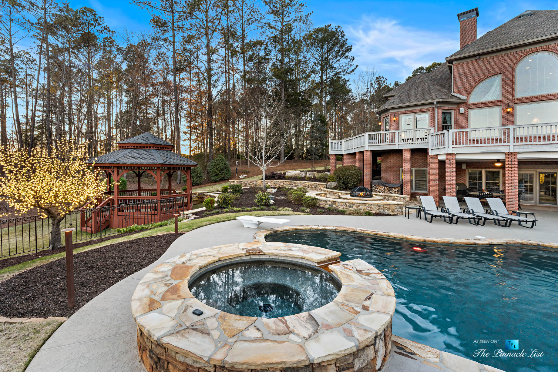 2219 Costley Mill Rd NE, Conyers, GA, USA – Backyard Hot Tub and Pool – Luxury Real Estate – Equestrian Country Home