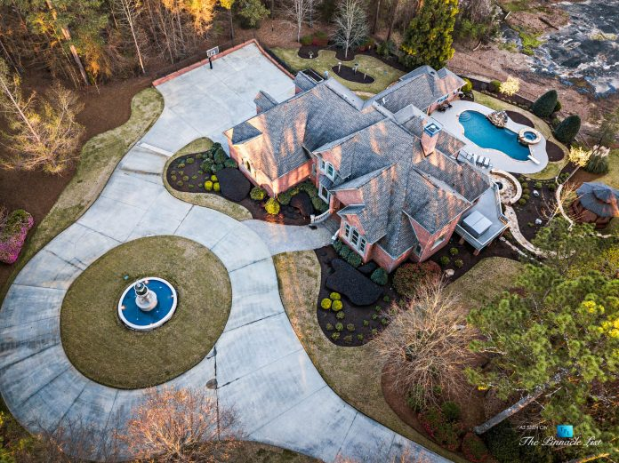 2219 Costley Mill Rd NE, Conyers, GA, USA - Drone Aerial Property View - Luxury Real Estate - Equestrian Country Home