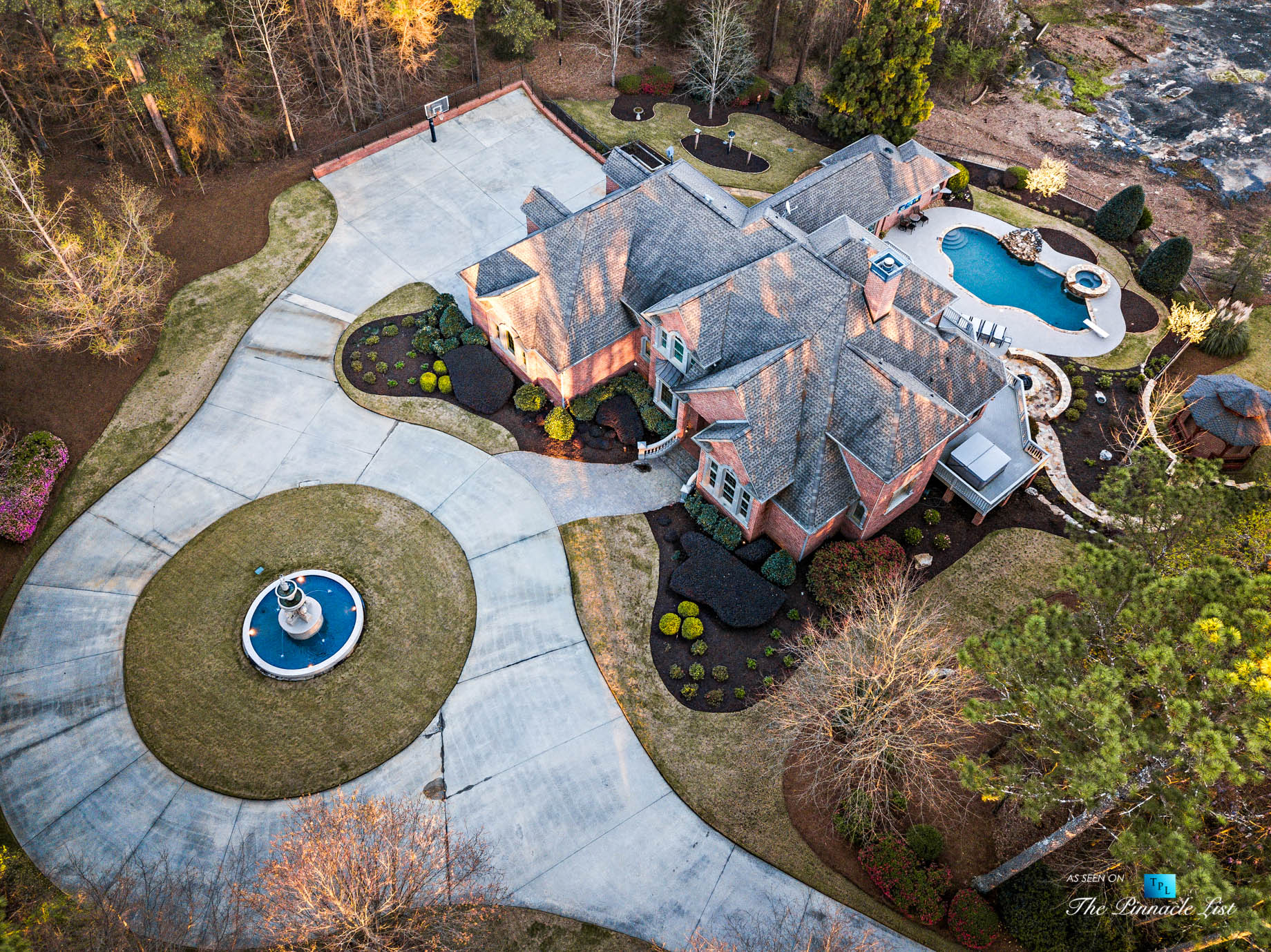2219 Costley Mill Rd NE, Conyers, GA, USA – Drone Aerial Property View – Luxury Real Estate – Equestrian Country Home