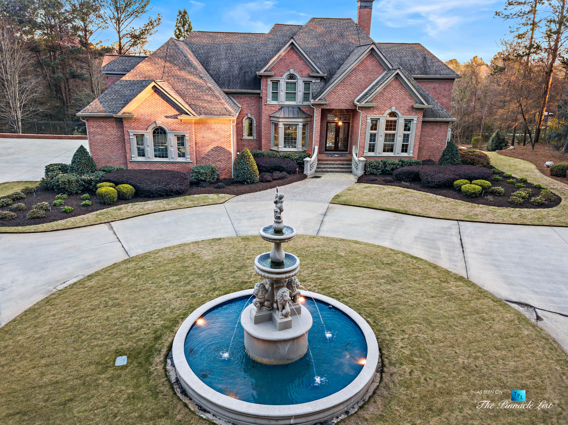 2219 Costley Mill Rd NE, Conyers, GA, USA – Drone Aerial Property Fountain View – Luxury Real Estate – Equestrian Country Home