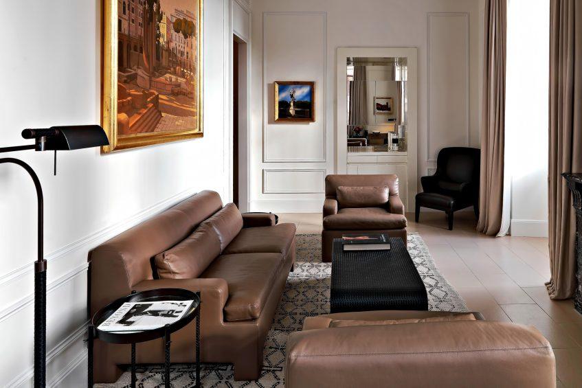 The St. Regis Rome Luxury Hotel - Rome, Italy - Bottega Veneta Suite Living Room