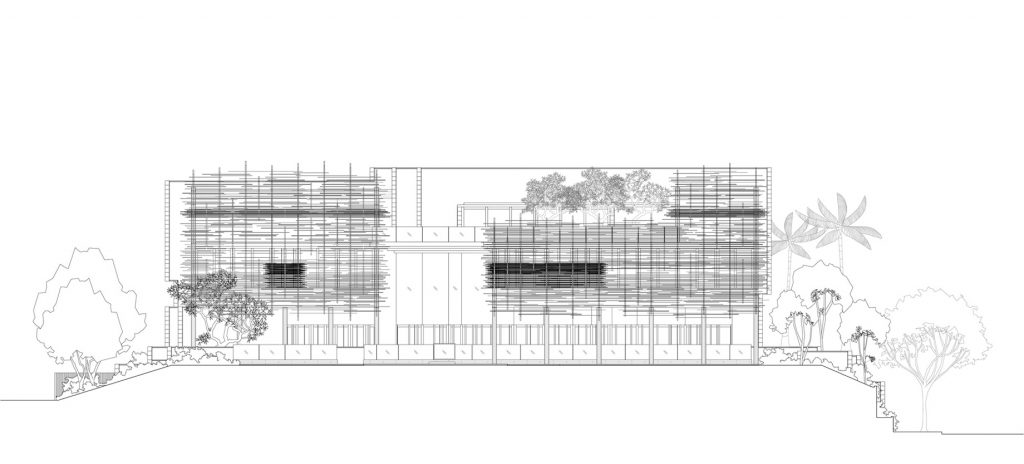 Elevation - Nest House Luxury Residence - Jalan Sejarah, Singapore