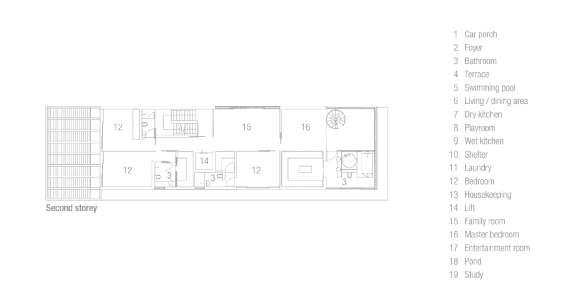 Second Floor Plan - Discreetly Detached Luxury Home - Princess of Whales Rd, Singapore