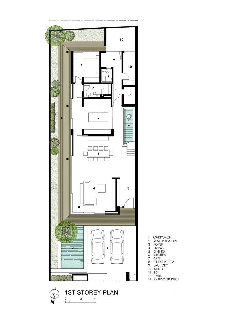 First Floor Plan - Far Sight House Luxury Residence - Bukit Timah, Singapore