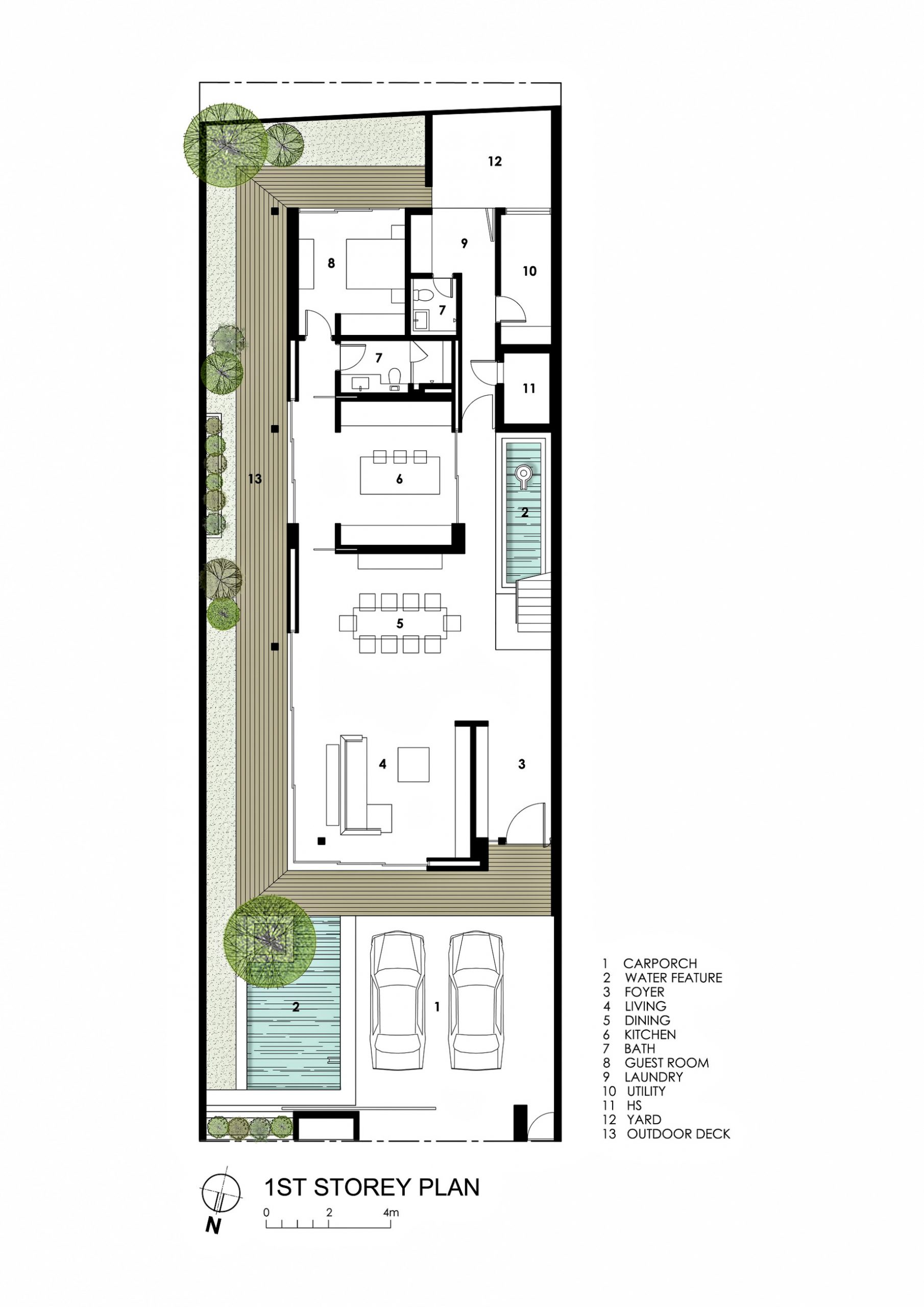 First Floor Plan - Far Sight House Luxury Residence - Bukit Timah, Singapore