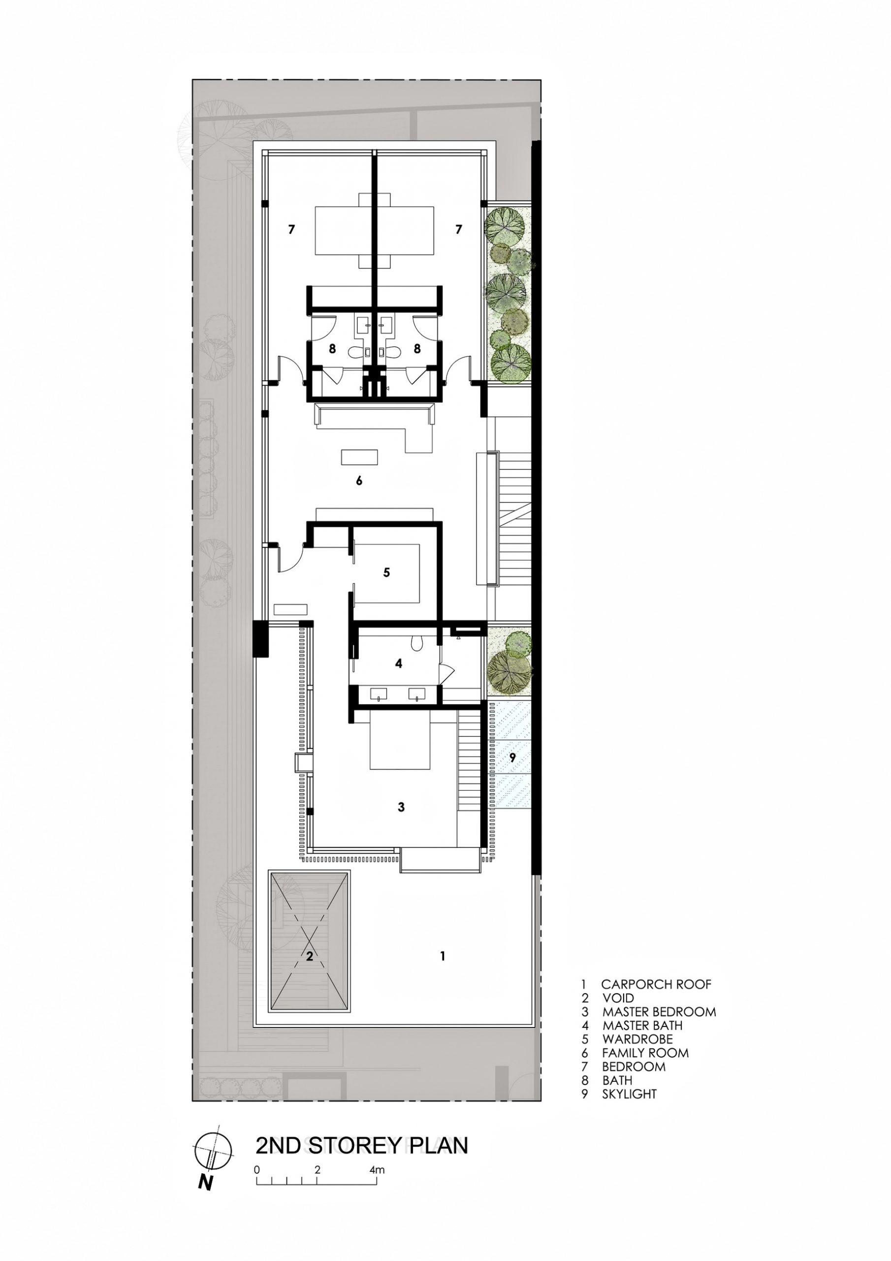 Second Floor Plan - Far Sight House Luxury Residence - Bukit Timah, Singapore