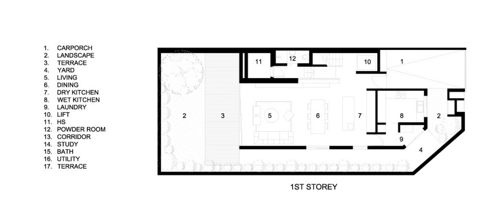 First Floor Plan - Custom Shades Luxury House - West Coast Grove, Singapore