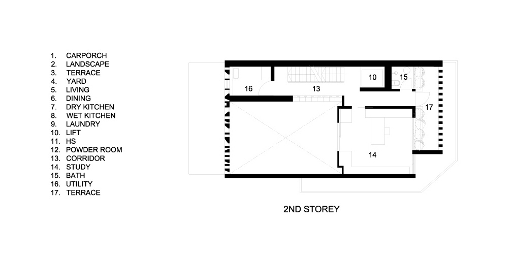 Second Floor Plan – Custom Shades Luxury House – West Coast Grove, Singapore