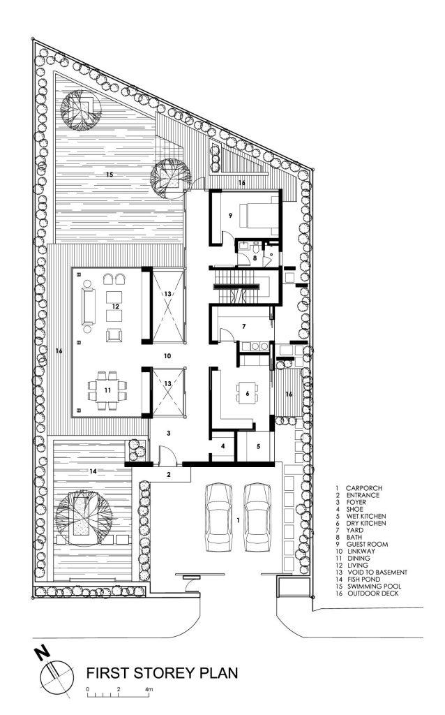 First Floor Plan - Travertine Dream House Luxury Residence - Serangoon, Singapore
