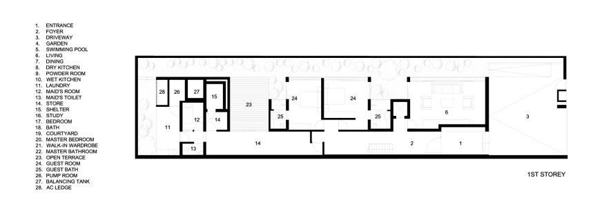 First Floor Plans - Viewing Back Luxury House - Jalan Tempua, Singapore
