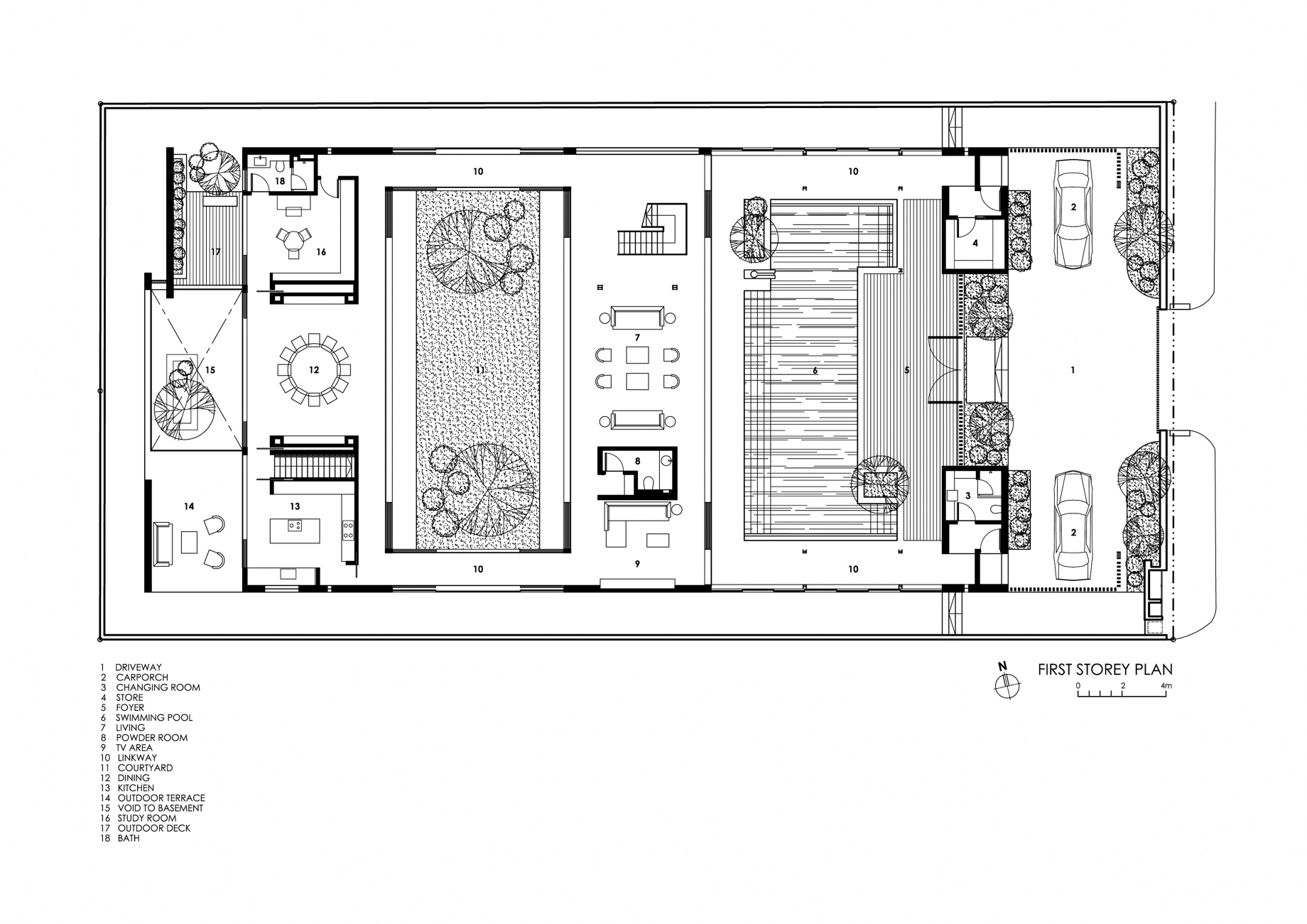First Floor Plan - Enclosed Open House Luxury Residence - Ramsgate Rd, Singapore