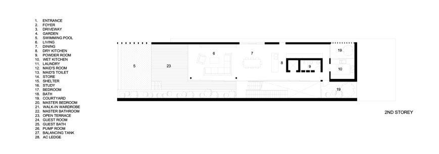 Second Floor Plans - Viewing Back Luxury House - Jalan Tempua, Singapore