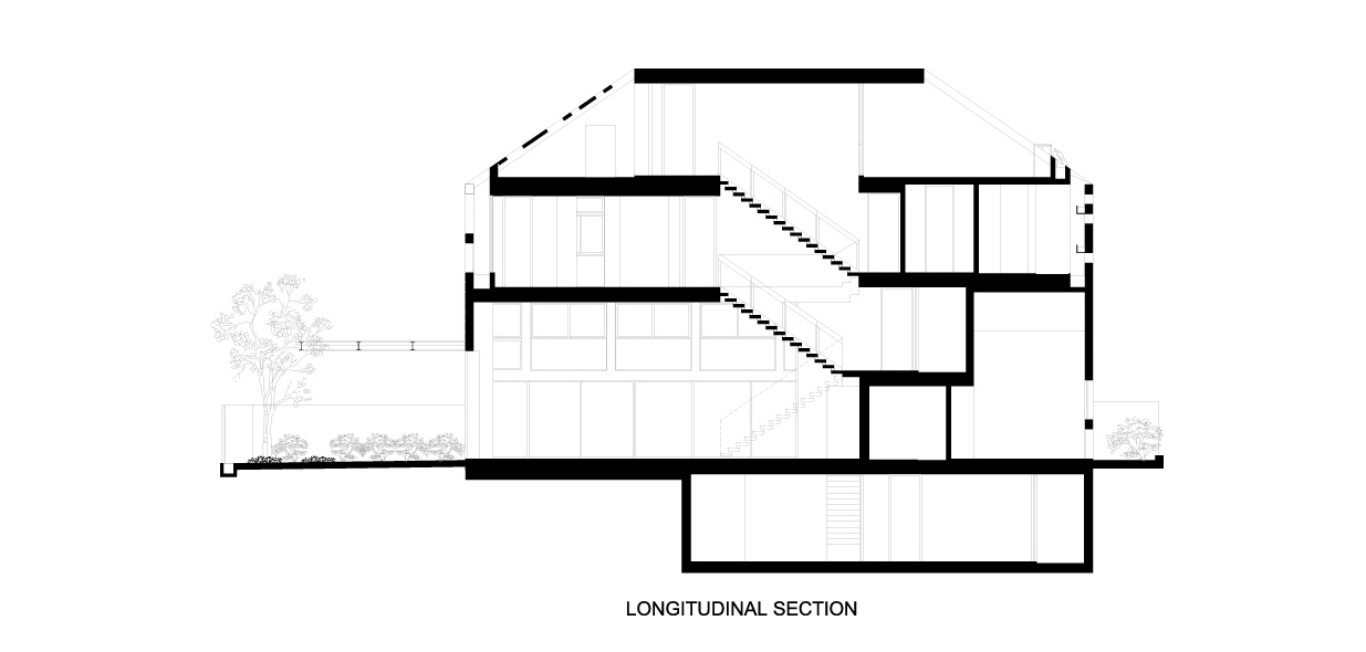 Section – Concrete Light House Residence – Greenleaf Drive, Singapore