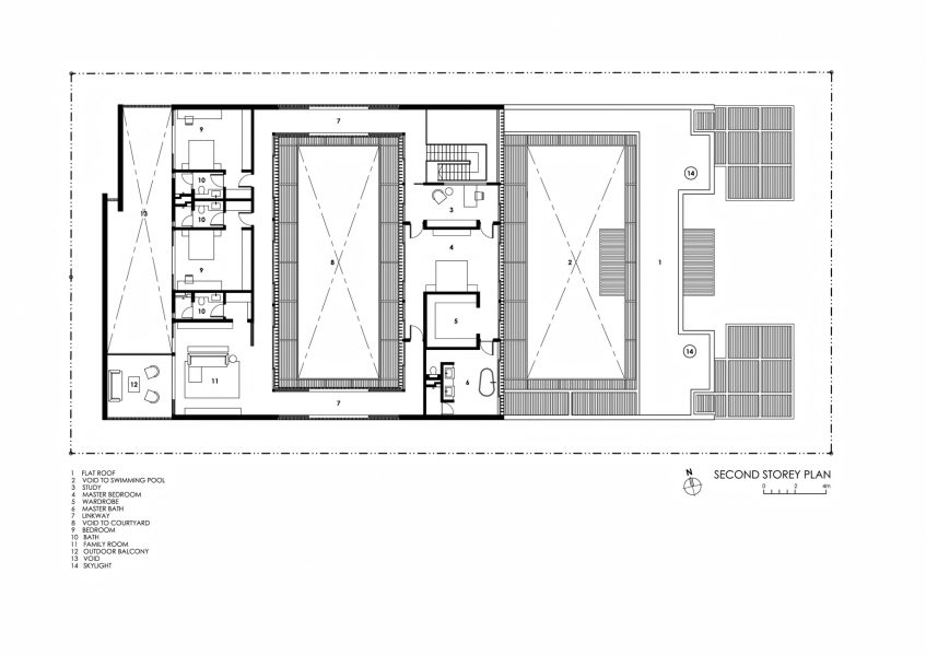 Second Floor Plan - Enclosed Open House Luxury Residence - Ramsgate Rd, Singapore