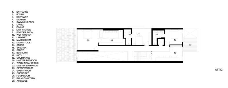 Attic Floor Plans - Viewing Back Luxury House - Jalan Tempua, Singapore
