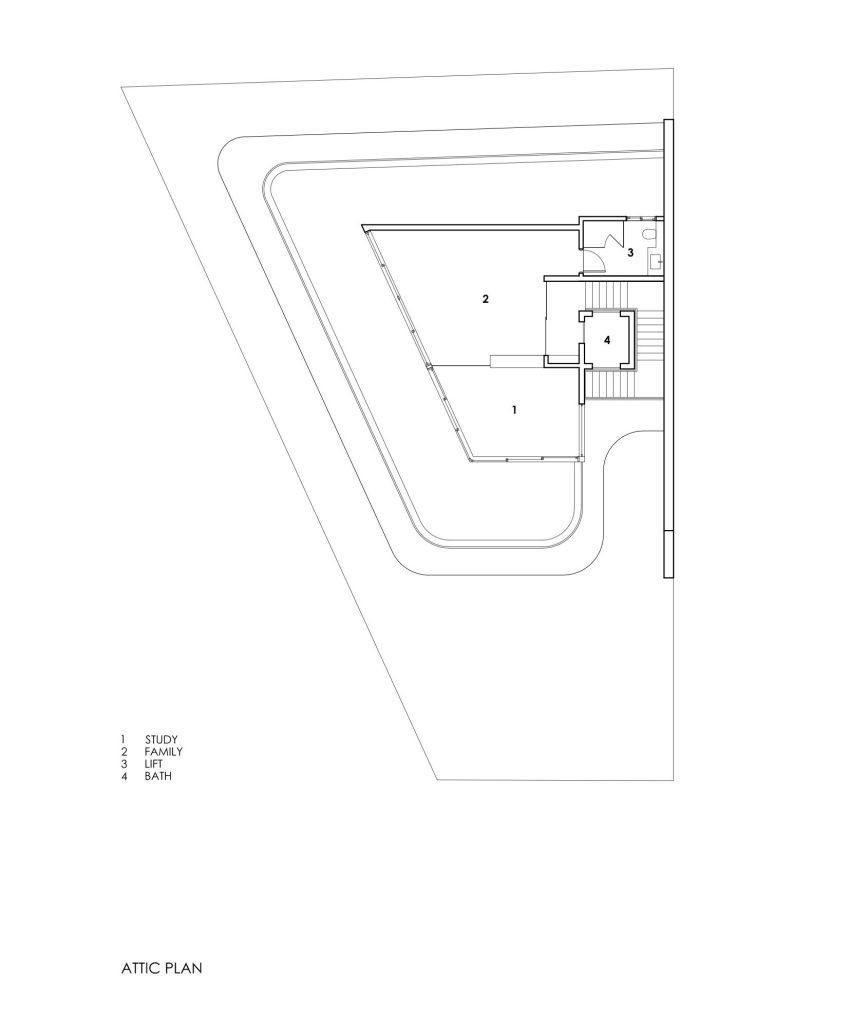 Attic Floor Plans - Bamboo Veil House Luxury Residence - Bukit Timah, Singapore