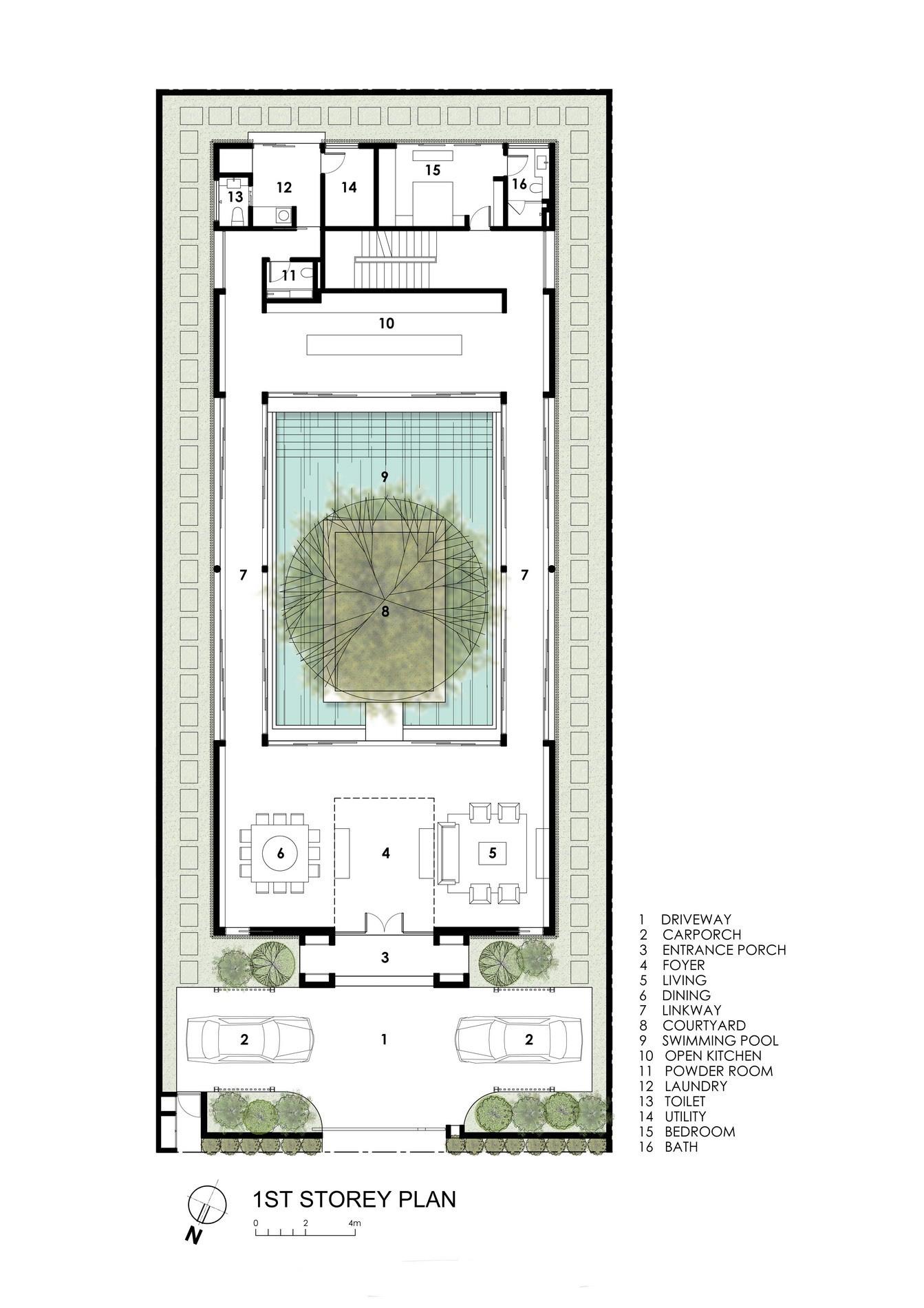 First Floor Plan - Centennial Tree House Luxury Residence - Dunbar Walk, Singapore