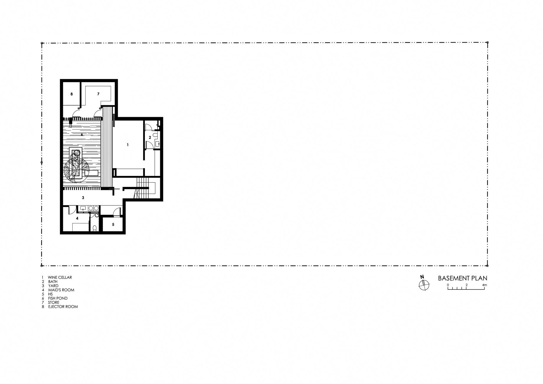 Basement Floor Plan - Enclosed Open House Luxury Residence - Ramsgate Rd, Singapore